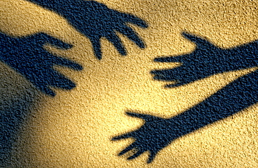 Shadows of hands