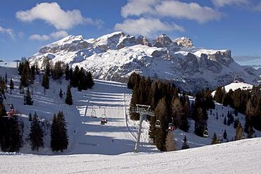 La Villa Stern, Alta Badia ski-region, Sella massif, Sellaronda ski circuit, Dolomites, Italy, Europe