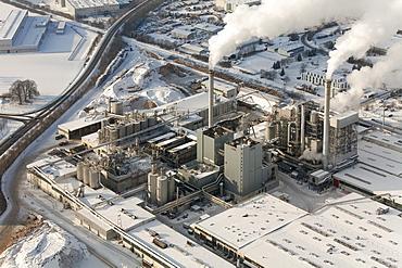 Aerial view, Egger Holzwerkstoffe Brilon GmbH & Co. KG, Brilon, North Rhine-Westphalia, Germany, Europe