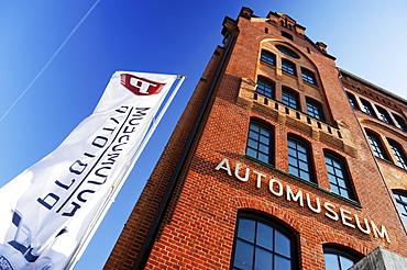 Prototype Auto Museum on Shanghaiallee in HafenCity, Hamburg, Germany, Europe