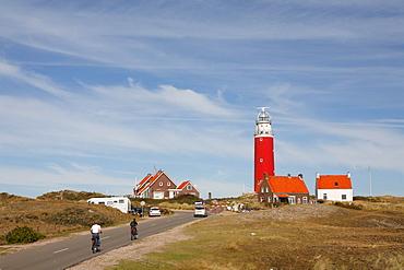 Lighthouse against a blue sky, Texel Island, Holland, The Netherlands, Europe