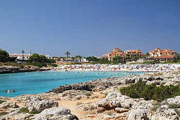 Beach at Cala en Bosc, Menorca, Minorca, Spain, Europe