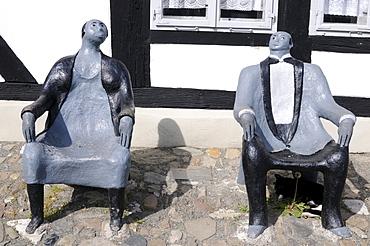 Modern art by Vera Keune, Goslar, Lower Saxony, Germany, Europe