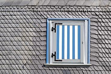 House with slate facade and shutters, Goslar, Lower Saxony, Germany, Europe