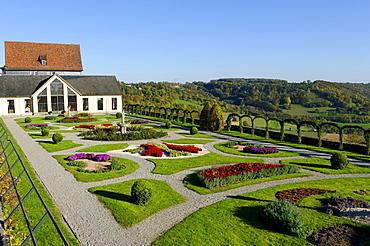 Castle gardens, Langenburg an der Jagst, Baden-Wuerttemberg, Germany, Europe