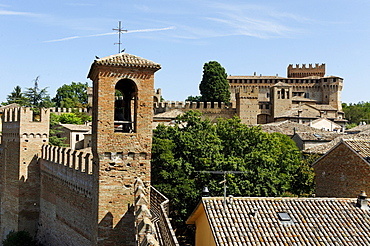 Castle village, Gradara, Province of Pesaro and Urbino, Marche, Italy, Europe