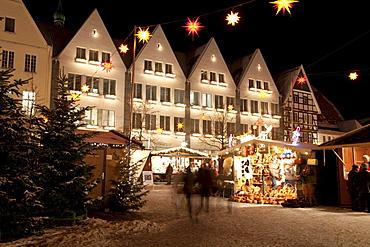 Christmas market at the market square, Soest, Sauerland, North Rhine-Westphalia, Germany, Europe