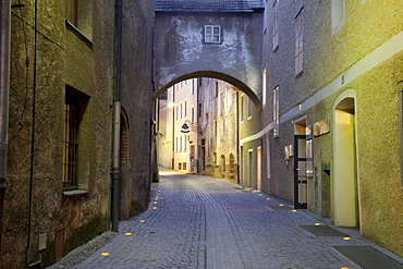 Back alley, Bruneck, Pustertal valley, Val Pusteria, Alto Adige, Italy, Europe