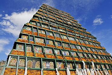 Stone pyramid, Chagpo Ri, Lhasa, Tibet, China, Asia