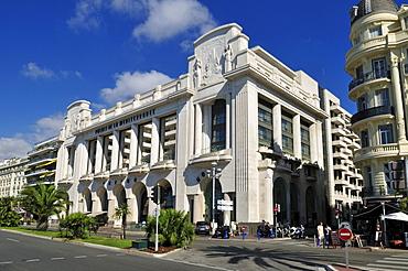Art Deco building at Promenade des Anglais, Nice, Nizza, Cote d'Azur, Alpes Maritimes, Provence, France, Europe