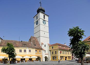 Old Town Hall tower, Sibiu, Romania, Europe