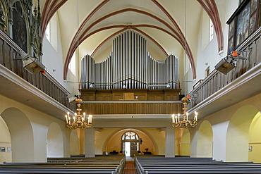 Organ in Cisnadie fortified church, Heltau, Romania, Europe