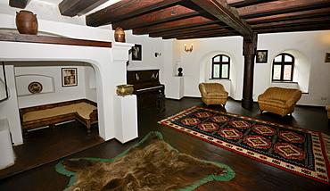 Interior view, Bran Castle, Toerzburg, Romania, Europe