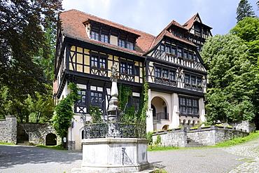 Adjoining building of Peles Castle, Sinaia, Romania, Europe