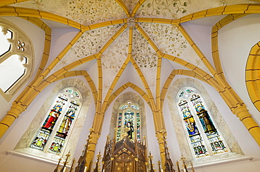 Star vault, left apse, Church of St. Giles, Raach, Bucklige Welt, Lower Austria, Austria, Europe