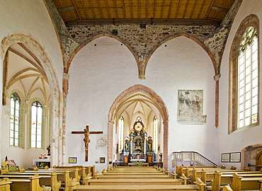 View of the high altar, Church of St. Wolfgang, Kirchberg, Bucklige Welt, Lower Austria, Austria, Europe