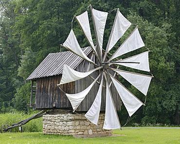 Windmill from the Constanta region, Astra open-air museum, Sibiu, Romania, Europe