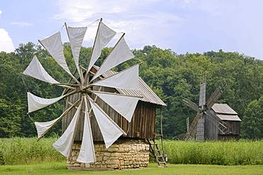 Windmills from the Constanta region, Astra open-air museum, Sibiu, Romania, Europe