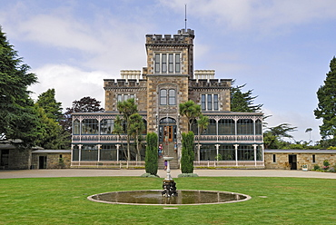 Larnach Castle, entrance, facade, Otago Peninsula, Dunedin, South Island, New Zealand