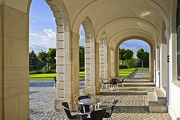 Arcade at the Schiller National Museum, Marbach am Neckar, Neckar valley, Baden-Wuerttemberg, Germany, Europe
