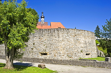 Bulwark, Bad Wimpfen, Neckartal, Baden-Wuerttemberg, Germany, Europe