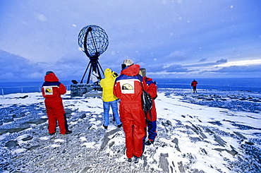 The globe at the North Cape, Norway, Europe