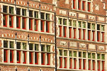 Facades, Metselaarshuis, old town, Ghent, East Flanders, Belgium, Europe