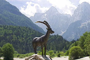 Capricorn sculpture at Lake Jasna near Kranjska Gora - Slovenia