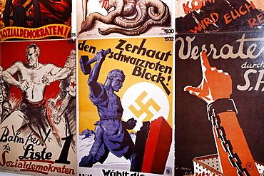 Election posters of political parties from 1938, Social Democrats, German Resistance Memorial, Bendlerblock, Berlin-Mitte, Germany, Europe