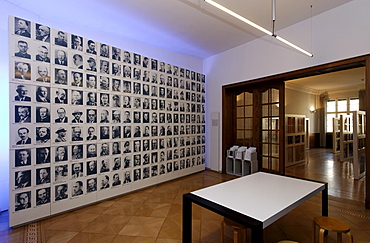 Wall with portraits of resistance fighters during the Nazi period, German Resistance Memorial, Bendlerblock, Berlin-Mitte, Germany, Europe