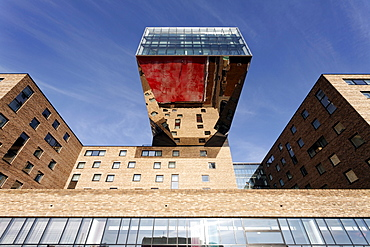 Nhow, music and lifestyle hotel with a spectacular design, Stralauer Allee, former Osthafen harbour, Friedrichshain district, Berlin, Germany, Europe