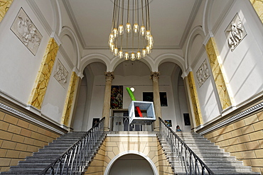 Staircase in the style of historicism, Kunstakademie Duesseldorf arts academy, North Rhine-Westphalia, Germany, Europe