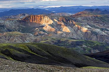Rhyolite mountains near Landmannalaugar, Laugavegur hiking trail, Fjallabak Nature Reserve, Highlands of Iceland, Iceland, Europe