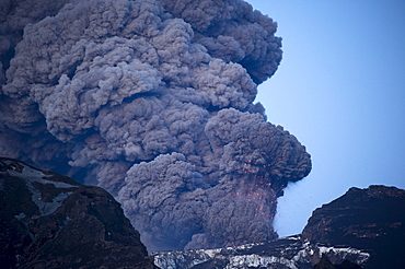 Eyjafjallajoekull volcano, eruption, Iceland, Europe