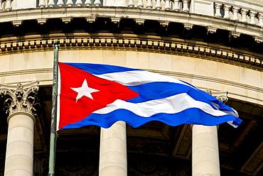 Cuban flag, Havana, Cuba, Caribbean