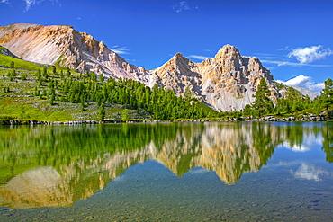 Green Lake or Lago Verde, Mt. Eisengabel, Naturpark Fanes-Senes-Prags, South Tyrol, Italy, Europe