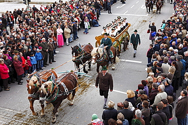 Leonhardi procession, Bad Toelz, Isarwinkel, Upper Bavaria, Bavaria, Germany, Europe