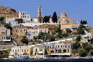 Townscape of Symi, Symi island, Greece, Europe