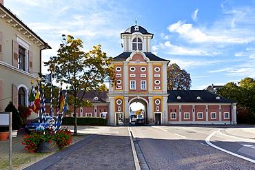 Damianstor gate, Bruchsal, Kraichgau region, Baden-Wuerttemberg, Germany, Europe