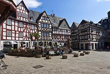Historic town centre of Limburg, Hesse, Germany, Europe