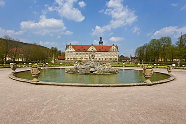 Weikersheim Castle, Weikersheim, Main-Tauber district, Baden-Wuerttemberg, Germany, Europe