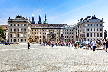 Prague Castle, Hradcany square, Hradcany castle district, Prague, Czech Republic, Europe