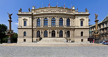 The National Theatre, Rudolfinum, the concert hall of the Czech Philharmonic Orchestra, Prague, Czech Republic, Europe