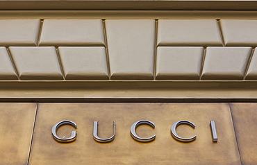 Gucci shop, luxury shopping district, Prague, Czech Republic, Europe