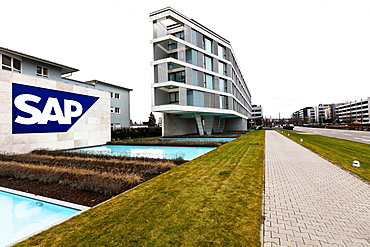 Headquarters, administration of the SAP AG software company in Walldorf, Baden-Wuerttemberg, Germany, Europe