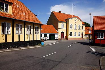 Houses, street, Bornholm, Denmark, Europe