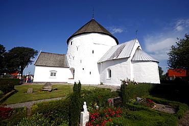 Nylars Kirke, round church, Bornholm, Denmark, Europe