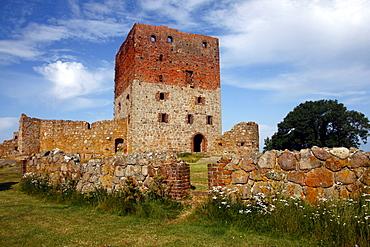 Hammershus castle ruins, Bornholm, Denmark, Europe