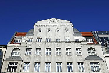 Facade of a department store, around 1900, now Wurmpassage shopping centre, Marienplatz 1-2, Schwerin, Mecklenburg-Western Pomerania, Germany, Europe