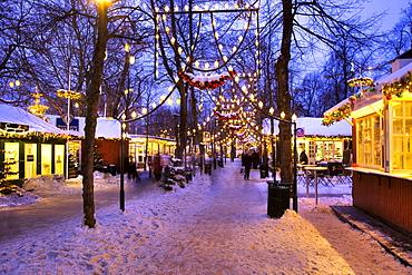 Christmas decoration in Tivoli, Copenhagen, Denmark, Europe